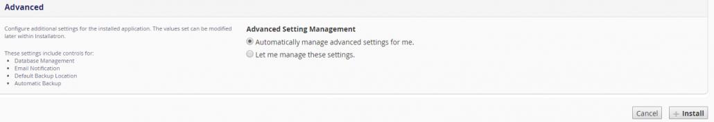 Image. Install WordPress advanced.
